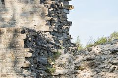 Fragment of a wall old fortress Royalty Free Stock Photo