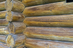 Fragment of the wall of an old log hous Royalty Free Stock Images
