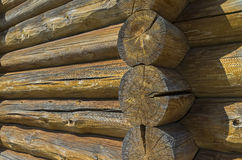 Fragment of the wall of an old log hous Royalty Free Stock Image