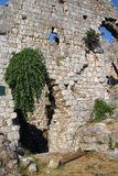 Fragment of the wall of the old Turkish fortress in the city of Bar, Montenegro. royalty free stock photos
