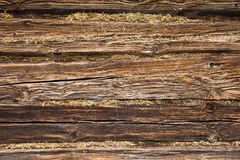 Fragment of wall of the old wooden building. Stock Images