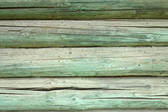 Fragment. The wall of the old wooden house Stock Images