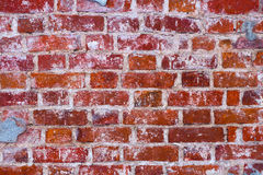 Fragment of a wall from a red brick Royalty Free Stock Photo