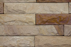 Fragment wall square stone block. For texture background Stock Images