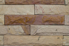 Fragment wall square stone block. For texture background Stock Image