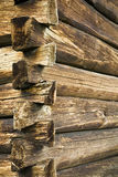 Fragment of walls of the old wooden building Stock Image