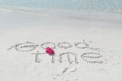 Fragment of warm tropical beach message background Stock Image