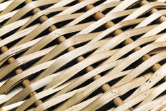 Fragment of a wattled basket, close up Royalty Free Stock Photography