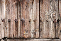 Fragment of a weathered wooden door Royalty Free Stock Image