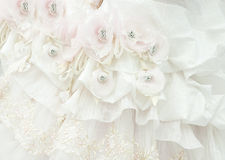 The fragment of a wedding dress Royalty Free Stock Photography