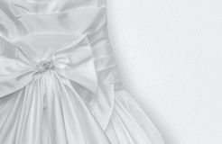 Fragment of Wedding dress Royalty Free Stock Images