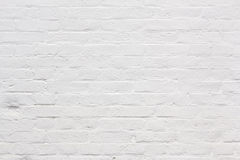 Fragment of white brick wall Royalty Free Stock Photo