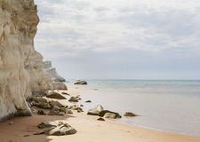 Fragment of the white cliff called Royalty Free Stock Photography