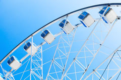 Fragment of white ferris wheel Royalty Free Stock Image