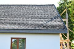 Roof of house stock images