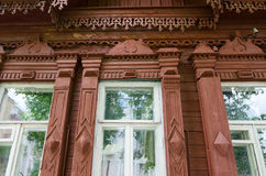 Fragment of wooden building of 19th - early 20th centuries, Gome Royalty Free Stock Photos