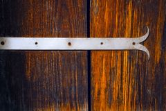 Fragment of the wooden door. Of the old Ukrainian house royalty free stock photos