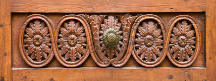 Fragment of a wooden door. Royalty Free Stock Photography