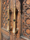 A fragment of a wooden door Royalty Free Stock Images