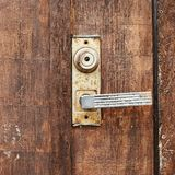 Fragment of a wooden door Royalty Free Stock Photography