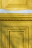 A fragment of a wooden door Stock Photos