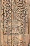 Fragment of a wooden door Stock Image