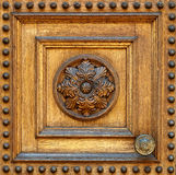Fragment of wooden door Royalty Free Stock Photography