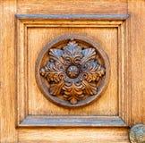 Fragment of wooden door Stock Photos