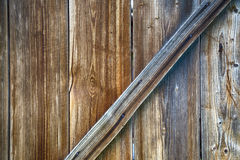 Fragment of a wooden door Royalty Free Stock Images