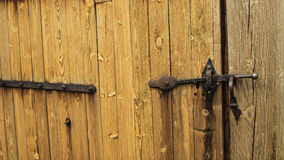 Fragment of wooden  gate Royalty Free Stock Photo