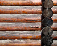 Fragment of a wooden house Royalty Free Stock Photos