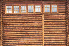 Fragment of the wooden house Stock Photo