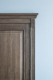 Fragment of a wooden oak door Royalty Free Stock Photo
