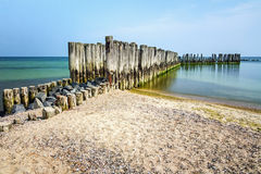 Fragment of wooden palisades Royalty Free Stock Photography