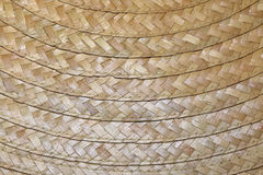 Fragment of woven straw hat Royalty Free Stock Photo