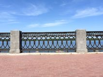 A fragment of the embankment in Samara Royalty Free Stock Photo