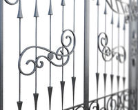 Fragment of wrought-iron lattice. Royalty Free Stock Photo