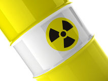 Fragment of yellow barrel Stock Image