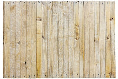 Not painted wooden fence Royalty Free Stock Photography