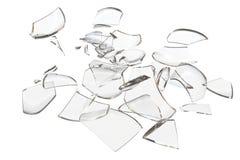 Fragmenta o objeto causado um crash vidro Imagem de Stock Royalty Free