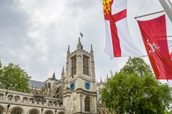 Fragmental view on Westminster Abbey Stock Photography