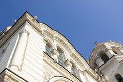 Fragmentarische Unterseite der Besteigungs-Kathedrale in Novocherkassk Stockfoto