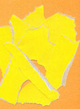 Fragmentary paper. Yellow fragmentary paper as background Royalty Free Stock Images