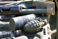 Fragmentation grenades Stock Photo