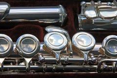 Fragmente a flauta desmontada foto de stock royalty free