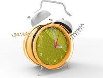 Fragmented crazy clock 3D royalty free stock photos