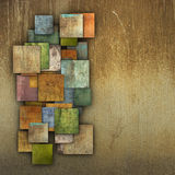Fragmented multiple color square tile grunge pattern backdrop Royalty Free Stock Photos