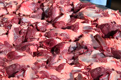 Fragmented raw beef Stock Photography