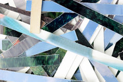 Fragmented ribbons close. Photo of Fragmented ribbons close Stock Photo