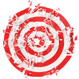 Fragmented target isolated on white background. 3d illustration Royalty Free Stock Images